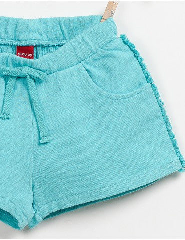Plush Teal Shorts