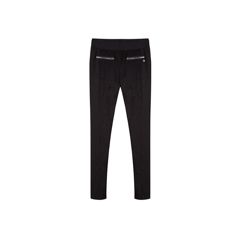 black leggings with front zippers