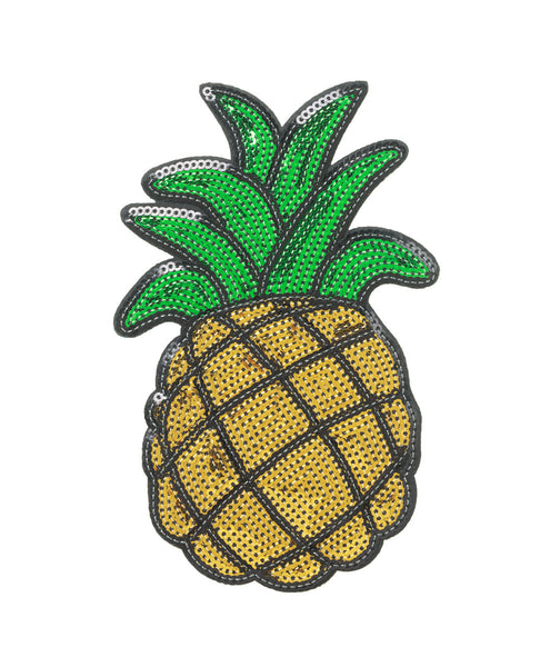 Pineapple Sequin Sticker Patch 6 inch