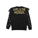 girls love is the message sweatshirt back view