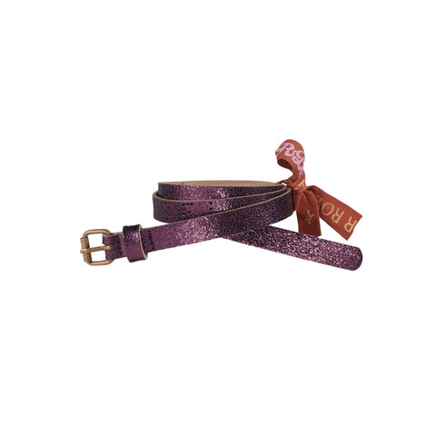 Metallic Belt in Raspberry color