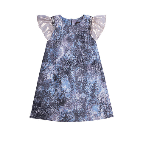 girls blue chiffon dress