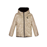 girls gold and black reversible jacket
