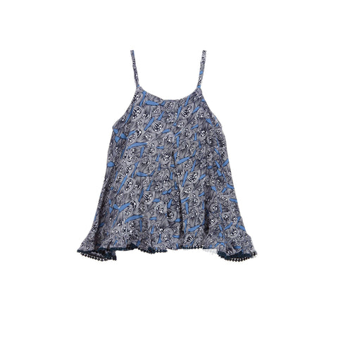 girls butterfly printed blouse