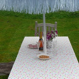 Pink Spotty Tablecloth