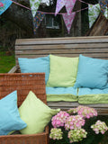 Reversible Loose cushion covers - Turquoise/Lime