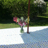 Blue Spotty Waxed Tablecloth