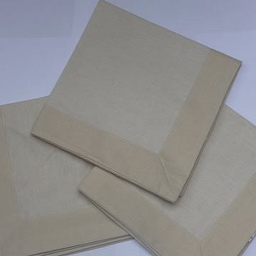 Cream Napkin with a Cream Border (pack of 4)