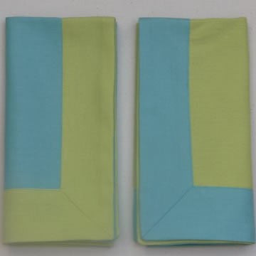 Lime Napkin with Turquoise Border (pack of 4)