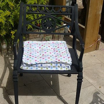 Pink Spotty Garden Seat Cushion