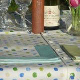 Blue Spotty Tablecloth