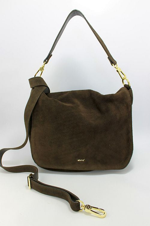 Dark Brown Suede Handbag