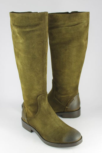Olive Suede Long Boot