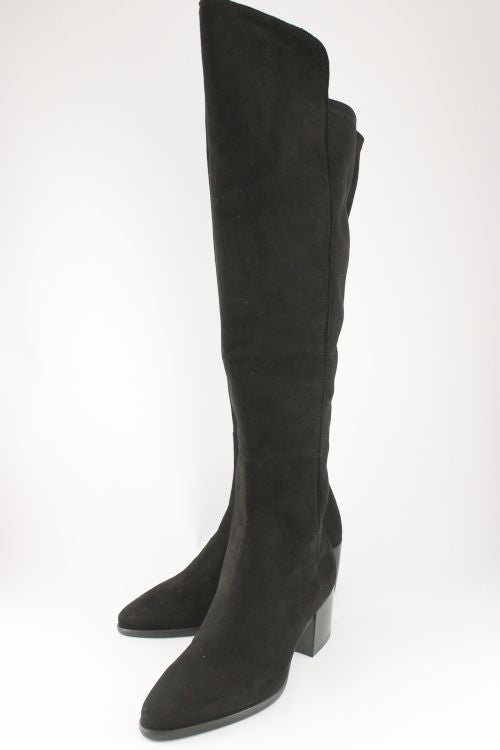Black Suede Long Boot