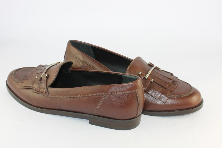 Dark Tan Leather Loafer