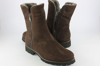 Dark Brown Suede Sheepskin Boot