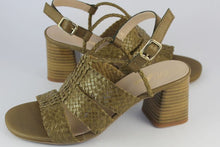 Load image into Gallery viewer, Olive Woven High Sandal