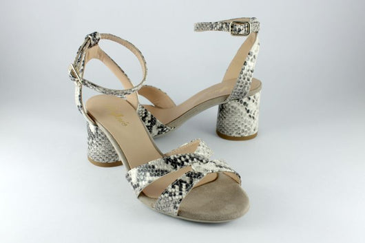 Snakeskin High Sandal