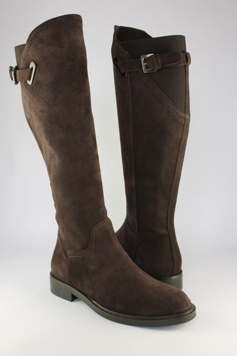 Dark Chocolate Suede Flat Boot