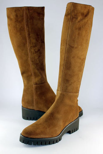 Santiago Tan Suede Wedge Long Boot