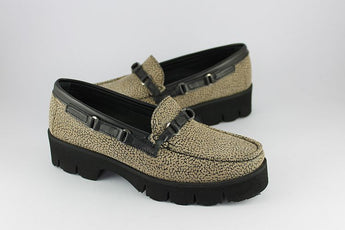Beige and Black Loafer