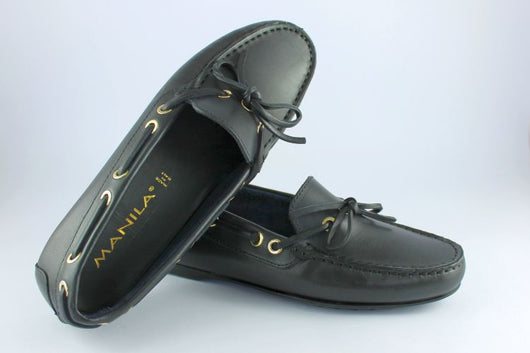 Navy Leather Loafer