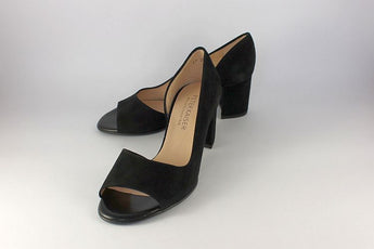 'Jasmin' Black Suede open side court