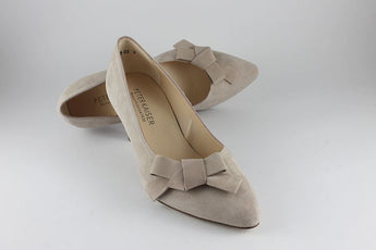 'Larissa' Mauve Suede Court With Bow