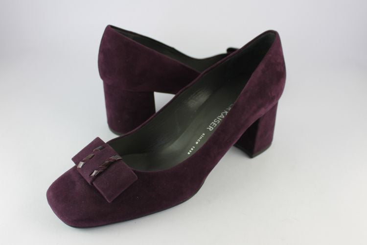 'Cella' Blackberry Suede Court