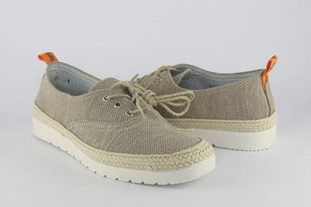 Stone Canvas Lace Up