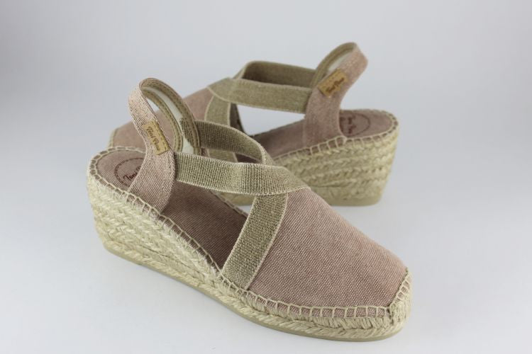 Soft Pink 'Terra' Mid Height Espadrille