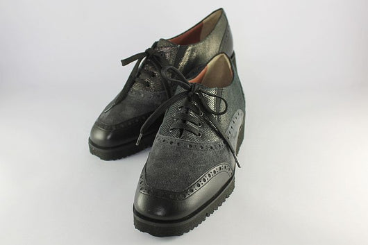 Grey Suede and Leather Brogue
