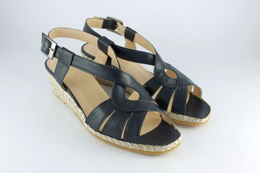 Navy Leather Sandal