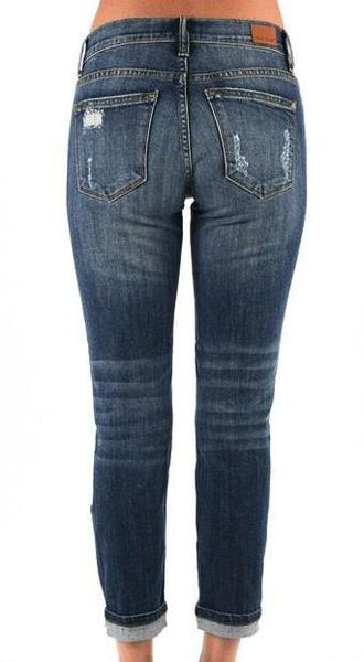 BOYFRIEND CUT CAPRI JEANS - Georgie St. Boutique