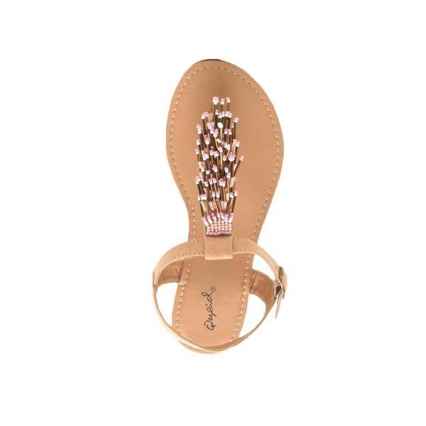 BEADED NUDE SANDAL - Georgie St. Boutique