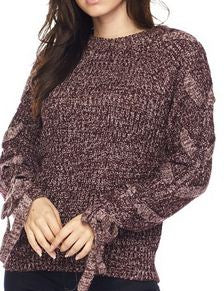 BRAIDED SLEEVE KNIT SWEATER - Georgie St. Boutique
