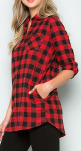 BUFFALO PLAID TOP - Georgie St. Boutique