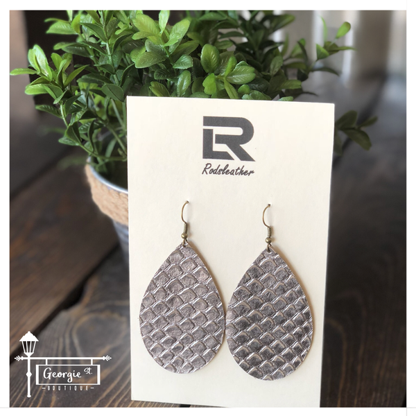 LEATHER EARRINGS - Georgie St. Boutique