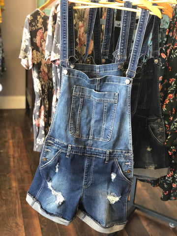 OVERALL JEAN SHORTS - Georgie St. Boutique