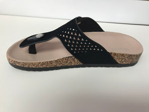 BLACK BUCKLE SANDAL - Georgie St. Boutique
