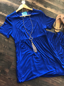 ROYAL BLUE MAXI DRESS - Georgie St. Boutique