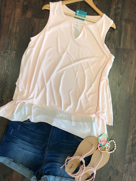 PINK LAYERED TANK TOP - Georgie St. Boutique