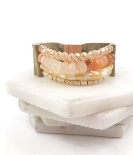 PEACH MAGNET BRACELET - Georgie St. Boutique