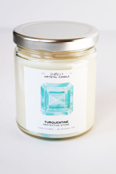Turquentine Crystal Candle Protective Stone