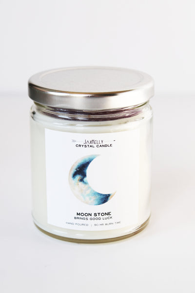 Moonstone Crystal Candle Brings Good Luck