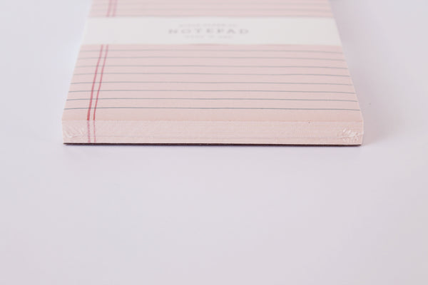 Rose-Lined Notepad