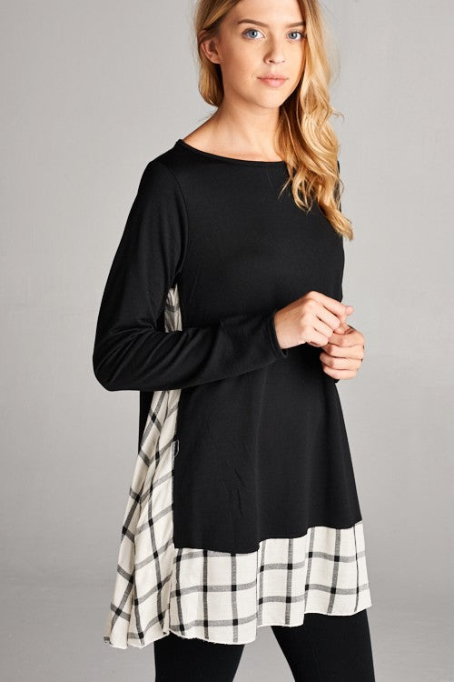 womens black tunic