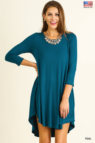womens teal fall dress