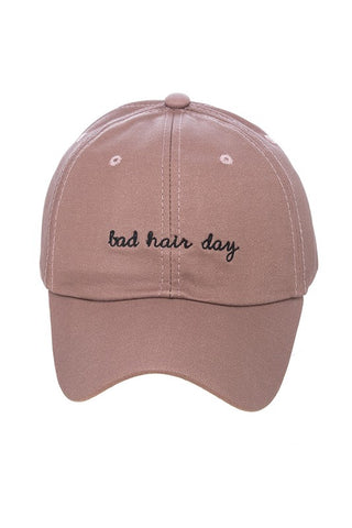 womens pink bad hair day hat
