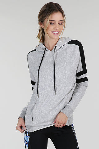 womens gray sporty hoodie
